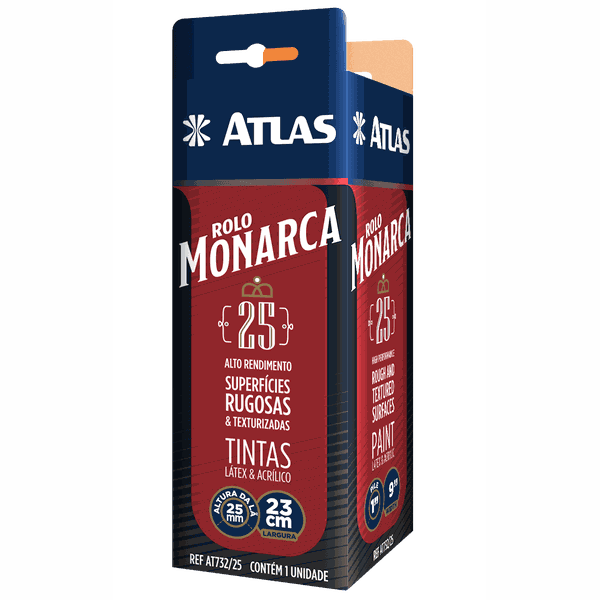 ROLO LA SINTETICA MONARCA 25MM 23CM ATLAS