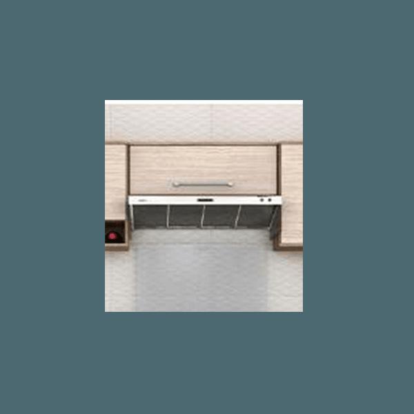 Armário De Geladeira 1P Basculante 5104.75 Evolution Noce Claro - Batrol Móveis