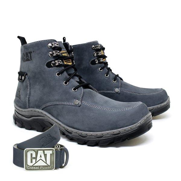 731d9498887 Bota Caterpillar Comfort Fielder + Cinto Couro - Cinza