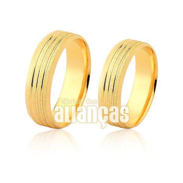 Alianças de ouro 18k diamantada