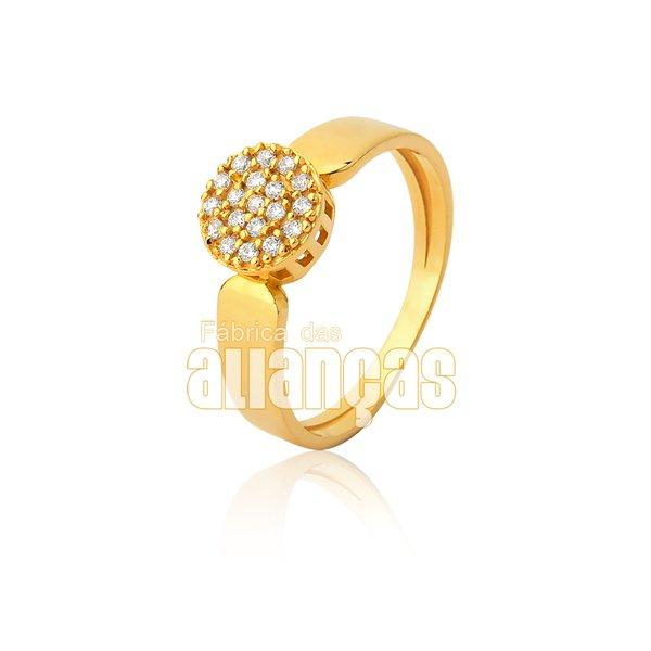 Anel Solitário em Ouro Amarelo 18k 0,750