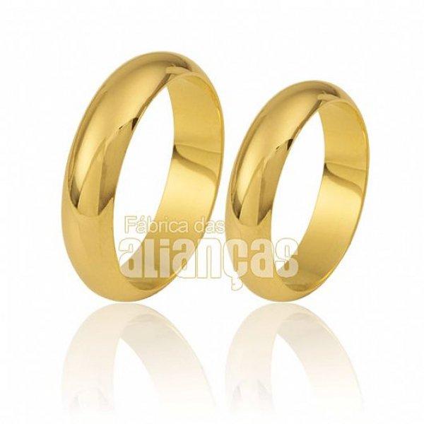 Par de Alianças de Noivado e Casamento em Ouro 18k