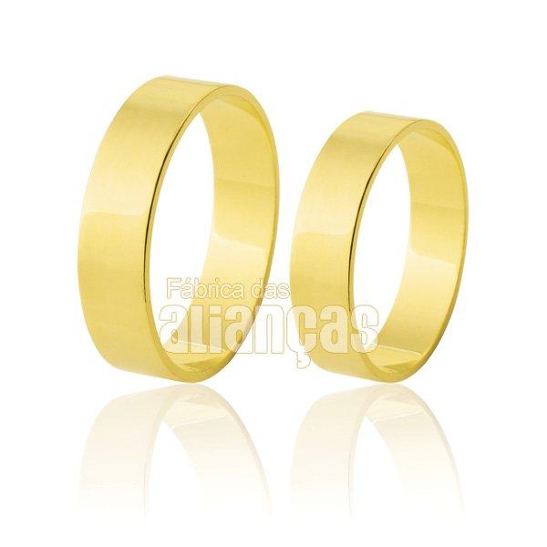 alianças de ouro 18 0,750