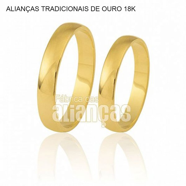 Lindas alianças de ouro 18k