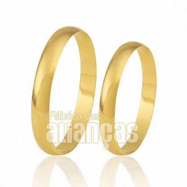 Alianças de Casamento em Ouro Amarelo