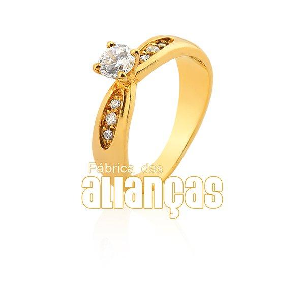 Anel Solitário em Ouro Amarelo 18k 0,75 S-49