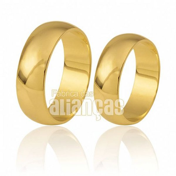 Alianças em Ouro 18k de casamento