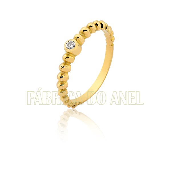 Anel Feminino em Ouro Amarelo 18k 0,750 AN-18