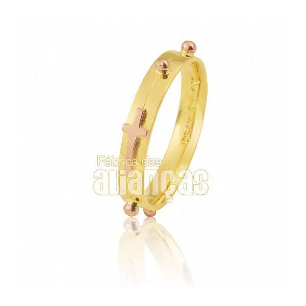 Anel Feminino Terço em Ouro Amarelo 18k 0,750