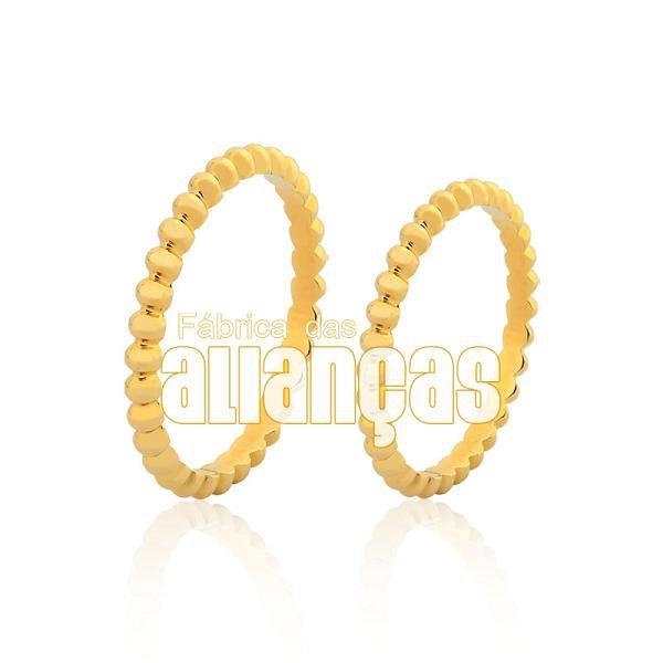 Alianças de Noivado e Casamento em Ouro Amarelo 18k 0,750 FA-986