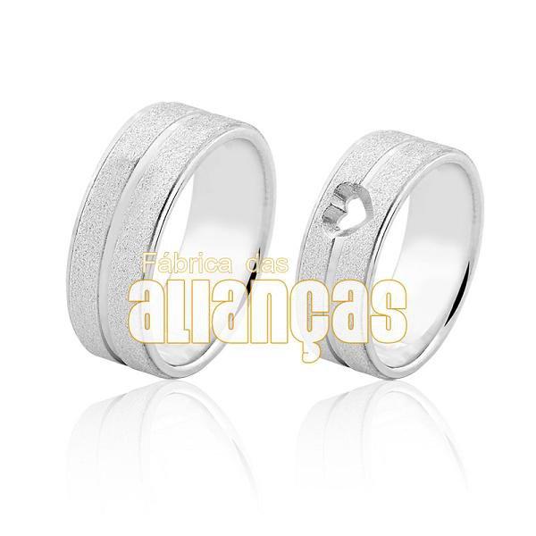 Alianças em Prata 0,950k Diamantada