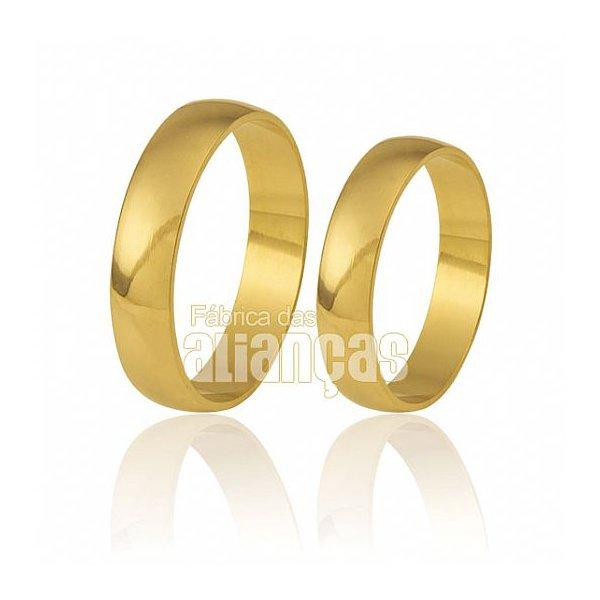 alianças medias de ouro