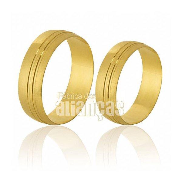Alianças de Noivado em Ouro Amarelo 18k