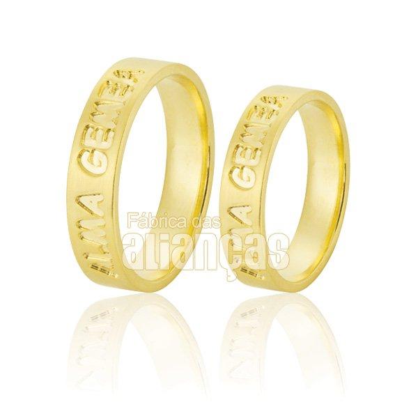 Alianças de Noivado e Casamento em Ouro Amarelo 18k 0,750 FA-813