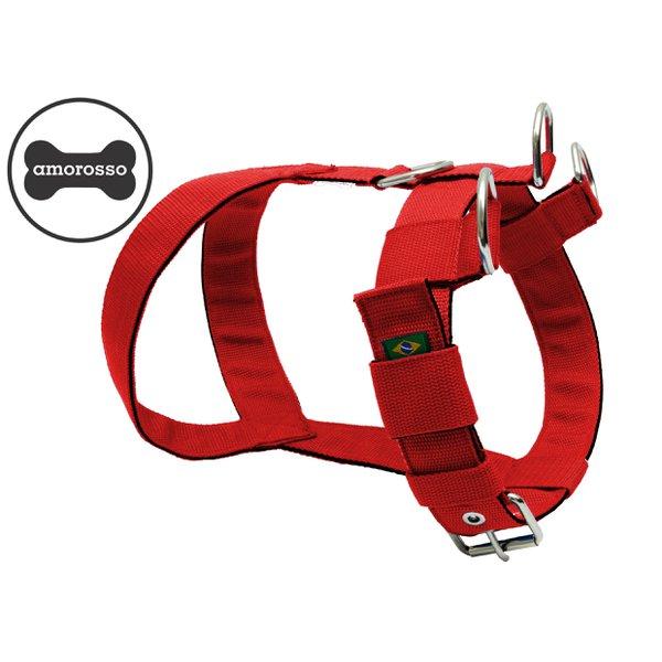 Peitoral Amorosso® Tradicional (vermelho e preto)