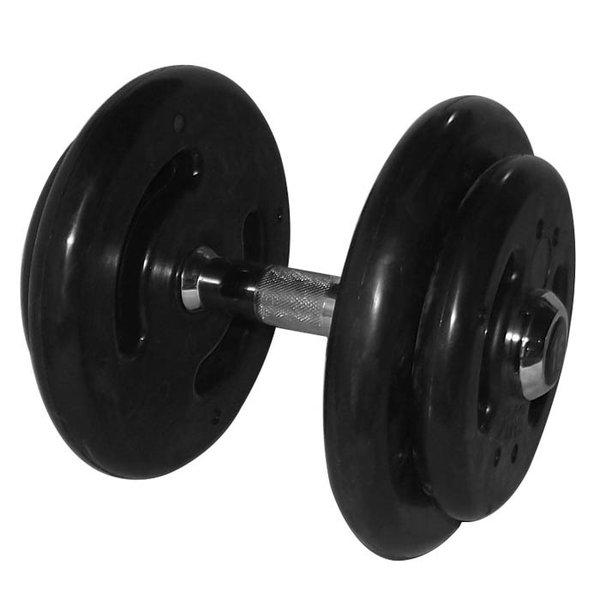 Dumbbell Injetado com pegada cromada 16 kg