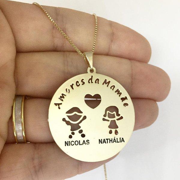 Mandala banhada a ouro com até 4 crianças e frase