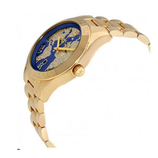ad91f9f24 Relógio Michael Kors Feminino Layton Cristal Dourado MK6243-4AI Mapa Mundi  - A.S.P LOJA