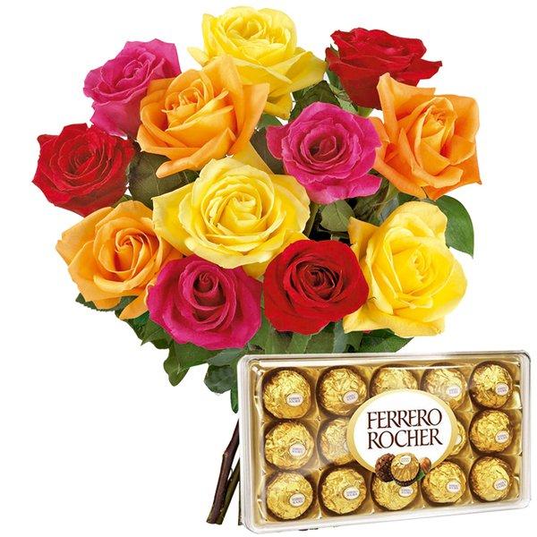Rosas Coloridas e Ferrero Rocher