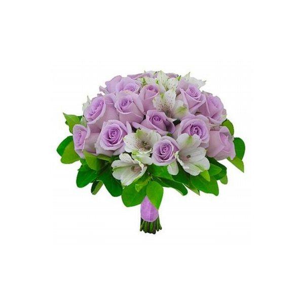 Buquê de noiva carinho lilás