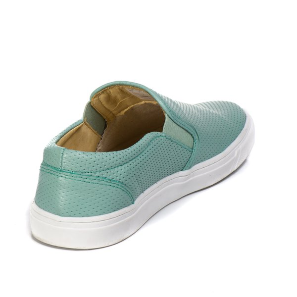 5d452045c5 Sapatênis Slip On Couro Verde Menta Forro de Couro Berlutini | Berlutini  Shoes