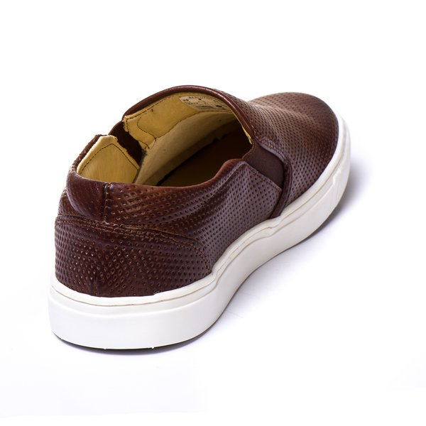 c72fdfb048 Sapatênis Slip On Café Em Couro Legítimo Berlutini 75017 | Berlutini Shoes