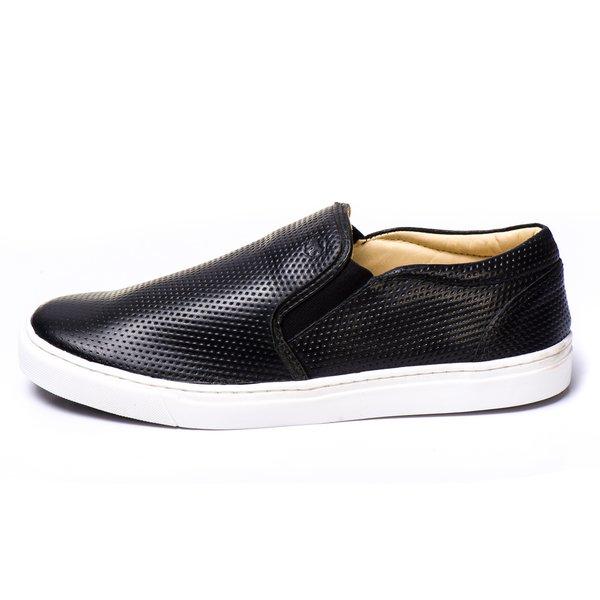 edccfa76e5 Sapatênis Couro 75017 Preto | Berlutini Shoes