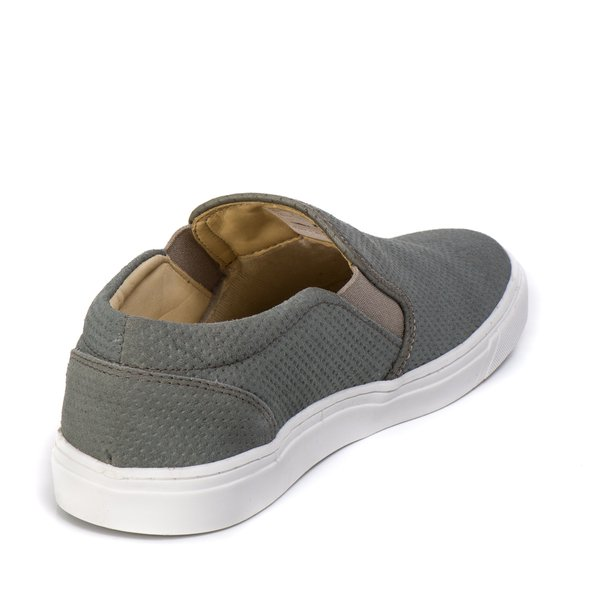 e701ad9066 Sapatênis Slip On Cinza Couro Legítimo | Berlutini Shoes