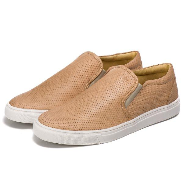 eff22da146 Sapatênis Slip On Couro Nude Forro de Couro Berlutini | Berlutini Shoes