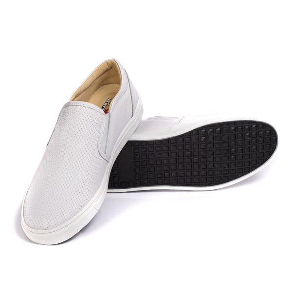 f84a046c1b Sapatênis Slip On Couro Branco Forro de Couro Berlutini | Berlutini Shoes