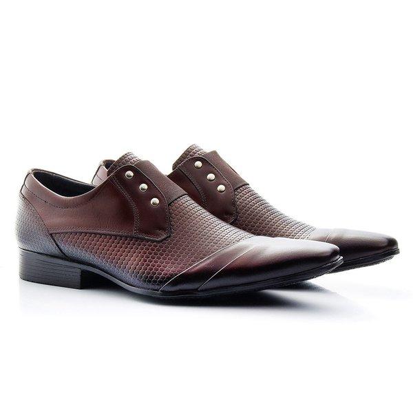 3aba26748 Sapato social elegante estampado solado de borracha   BIGIONI
