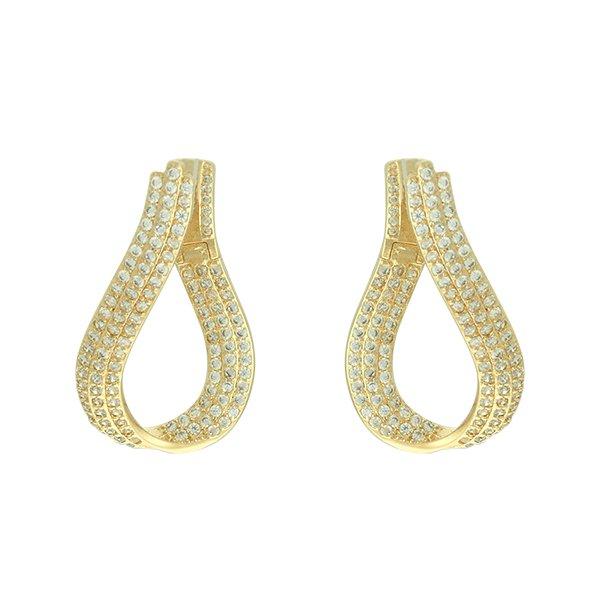Brinco Zircônia Lesprit LB18081WGL Dourado Cristal