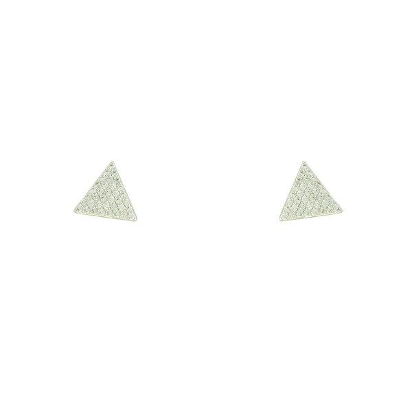 Brinco Zircônia Lesprit LB12931WCL Ródio Cristal