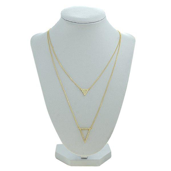Colar Zircônia Lesprit 2299-92303GL Dourado Cristal