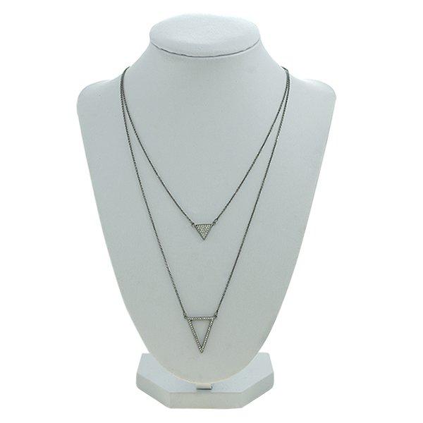 Colar Zircônia Lesprit 2299-92303WBK Ródio Negro Cristal