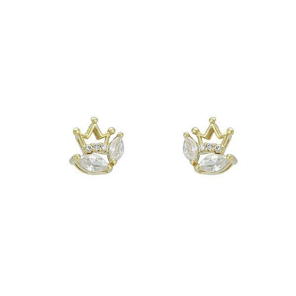 Brinco Zircônia Lesprit 65002 Dourado Cristal