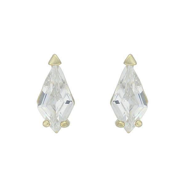 Brinco Zircônia Lesprit 65024 Dourado Cristal