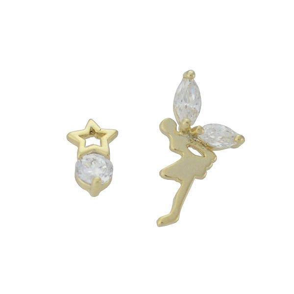 Brinco Zircônia Lesprit 65030 Dourado Cristal