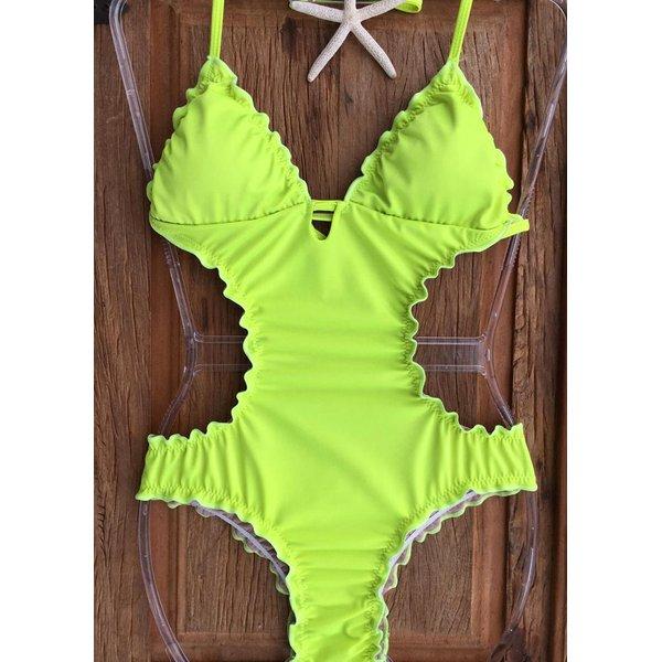 Maiô ripple Verde Neon