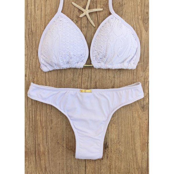 58adfea80 Kit Renda Branca (Saida de praia - saia longa + biquini cortininha larissa  Tanga)