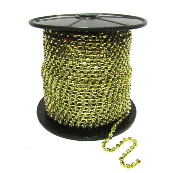 Corrente SS16 / PL32 - Hematite Dourado, Banho Dourado.