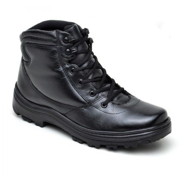 0bbe5b818a3bc Coturno Atron Shoes Militar Cano Baixo Unissex Preto   BOOTSHOES