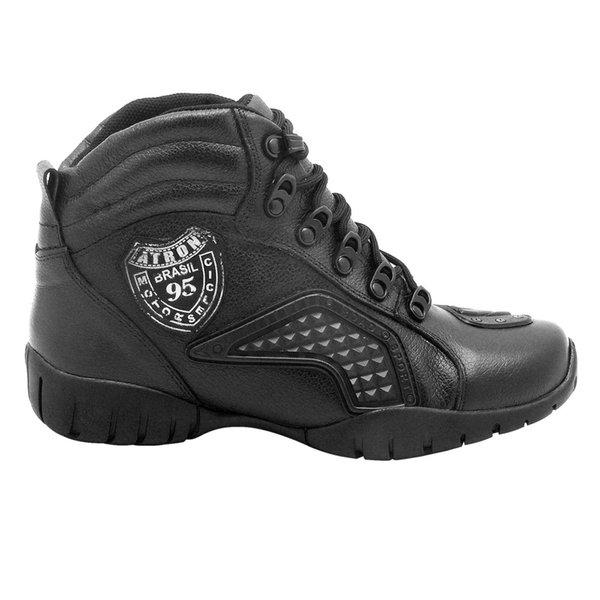 6900b888b13ab Coturno Motociclista Atron Shoes Em Couro   BOOTSHOES
