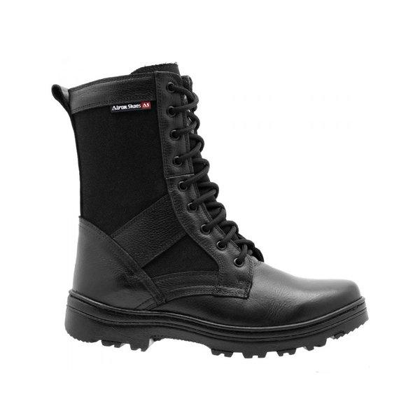 307d9cf141639 Coturno Militar Atron Shoes Extra Leve Couro E Lona   BOOTSHOES
