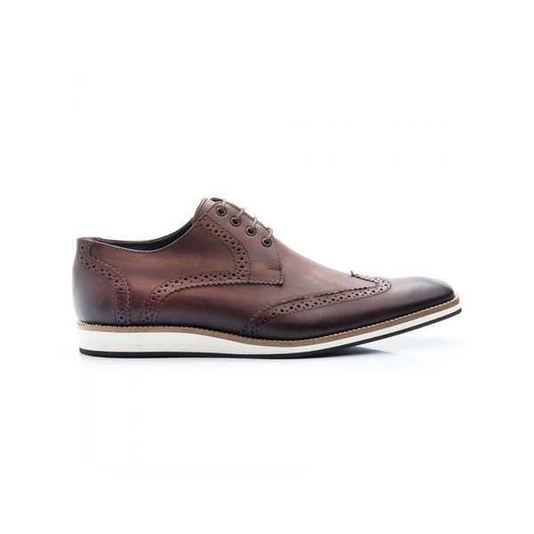 4ae1616c5 Sapato Oxford Masculino Casual Estonado Café Bigioni   BOOTSHOES