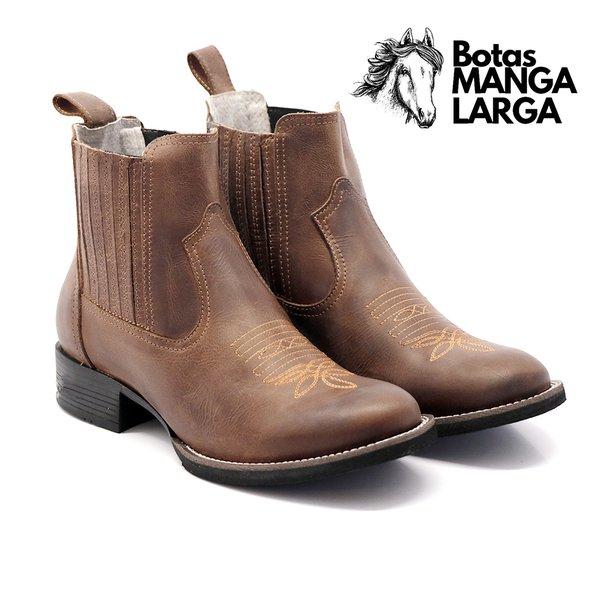 981228ade Botina Masculina em Couro Legítimo Bico Redondo | BOTAS MANGALARGA