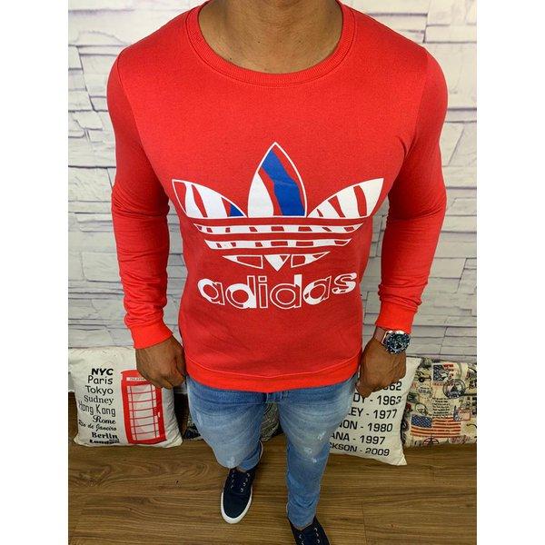 Blusa de Frio Adidas - Moletinho Vermelha Logo Branco c/Azul