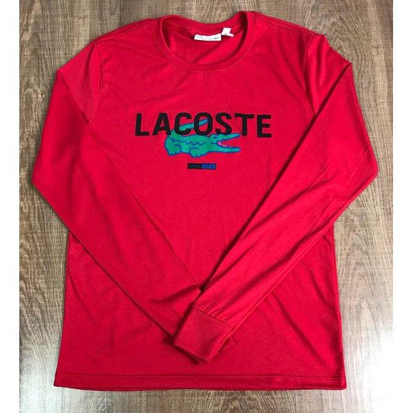 Camiseta Manga Longa Lacoste - Vermelha Copia