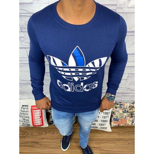 Blusa de Frio Adidas - Moletinho Azul Marinho
