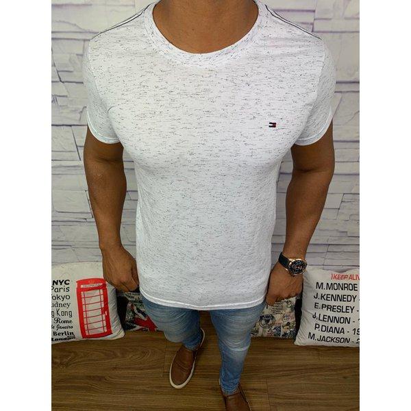 Camiseta Tommy Hilfiger Cinza Rajada